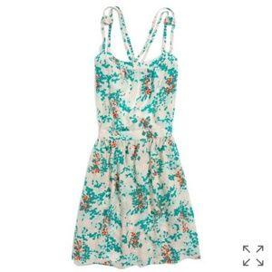 Madewell Sessun Simla Silk Backless Print Dress